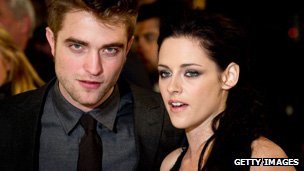 Robert Pattinson and Kristen Stewart, from the Twilight films