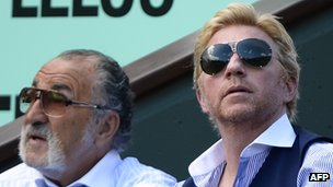 Boris Becker with Ion Tiriac