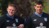 Roy Hodgson, Wayne Rooney and Steven Gerrard
