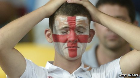 A sad England fan
