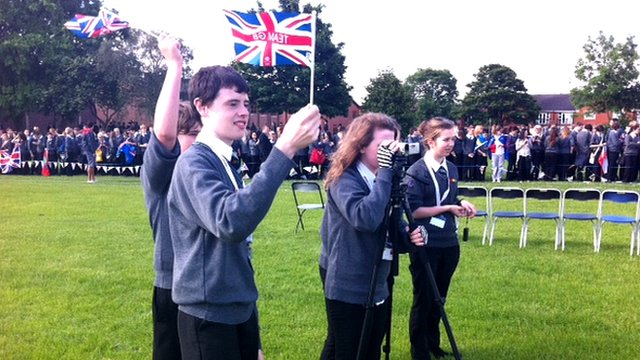 School Reporters welcome the torch