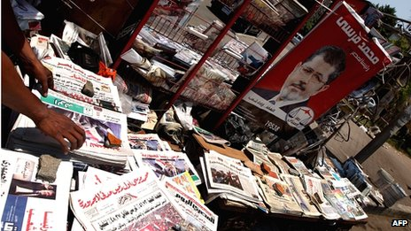Newspapers in Cairo (25/06/2012)
