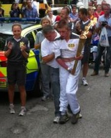 Jack Mitchell with the torch