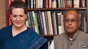 Sonia Gandhi and Pranab Mukherjee