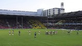 Saracens in action at Vicarage Road
