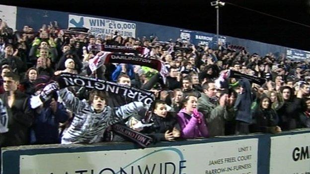 Darlington fans