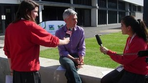 Jonathan Edwards is interviewed by the School Report team