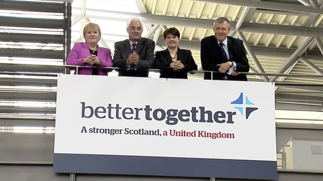 Johann Lamont, Alistair Darling, Ruth Davidson and Willie Rennie