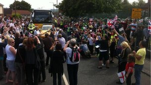 Crowds in Barnsley