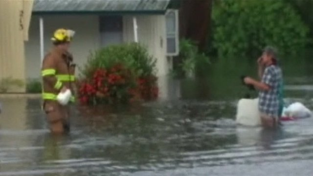 BBC News - Florida braced for new Tropical Storm Debby rain