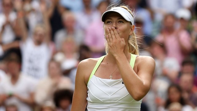 World number one Maria Sharapova