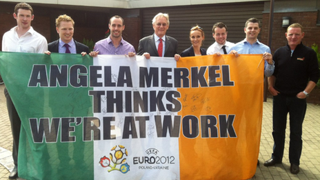 The Merkel Lads met the German ambassador to Ireland