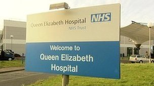 Queen Elizabeth Hospital sign