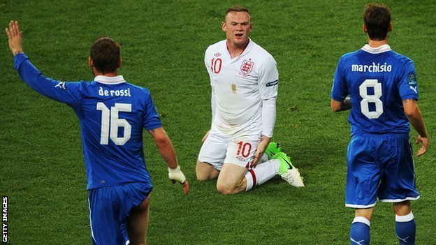 England striker Wayne Rooney
