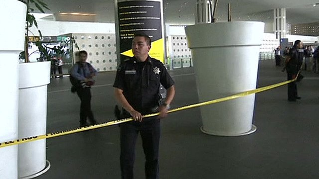 Witnesses describe gunfight at Mexico airport