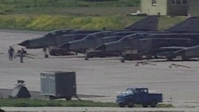 Turkish reconnaissance jets on the ground