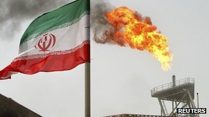 Iranian oil production platform at Soroush oil fields