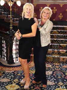 Judy Craymer and Jennifer Saunders at the Viva Forever! launch