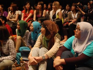 Young Malaysian from different ethnicity at a K-pop fans event in Mutiara Damansara, north west of Malaysia's capital Kuala Lumpur