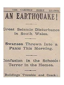 Newspaper clipping from 1906