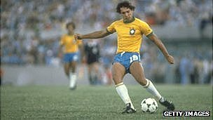 Eder of Brazil in action in 1982