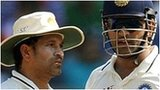 Sachin Tendulkar (left) and India skipper Mahendra Dhoni