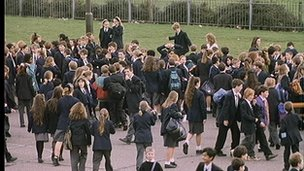 Pupils in playground