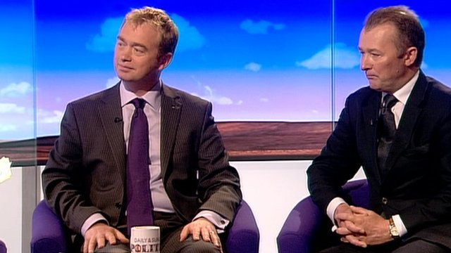 Tim Farron and Simon Hart