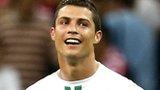 Cristiano Ronaldo playing for Portugal