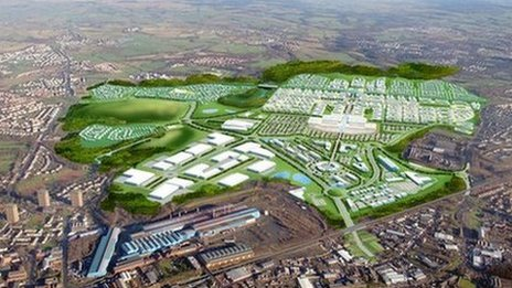 Artist's impression of Ravenscraig site