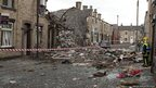 Scene of the explosion in Oldham.