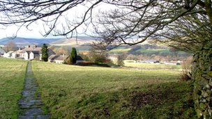 Potential development site at Hawes in the Yorkshire Dales
