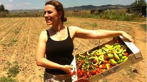 Farming student Asteria Chatziargyrou
