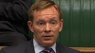 Chris Bryant looks surprised at the PM&#039;s response to his question 