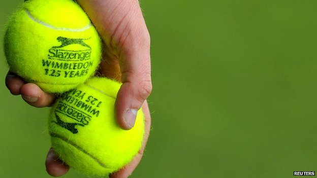 Tennis balls at Wimbledon