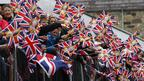 A sea of union flags