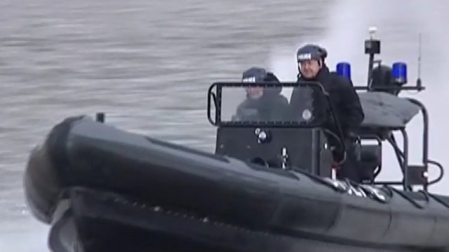 Police security boat