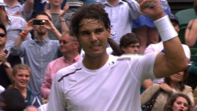 Nadal powers through after early scare