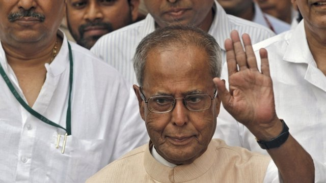 India's former finance minister, Pranab Mukherjee