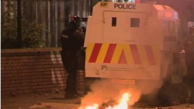 Police attacked during west Belfast trouble