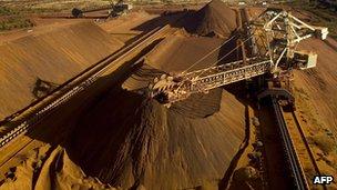 An iron ore mine