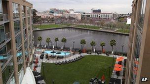 A view of the Stockton waterfront