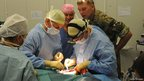 Surgery at Camp Bastion military hospital, Afghanistan