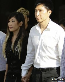 City Harvest Church founder Kong Hee and his wife Sun Ho, also known as Ho Yeow Sun, at the Subordinate Courts in Singapore on 27 June, 2012