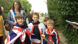 Louth torch fans