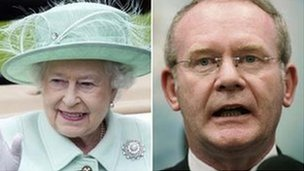 The Queen and Martin McGuinness