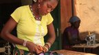 Women doing tailoring work in Burkina Faso
