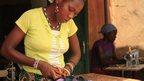 Women doing tailoring work in Burkina Faso