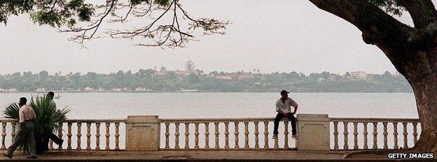 Street scene in Sao Tome