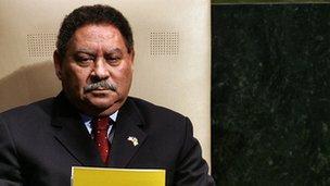 Sao Tome's ex president Fradique de Menezes